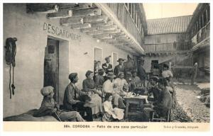 Mexico  Cordoba  Patio de una Casa  Descaegadero