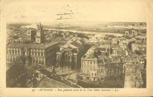 France, Avignon, Vue generale prise de la Tour Saint Laur...