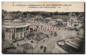 Postcard Ancient Arts Decoratifs Paris International Exhibition in 1925 Vue G...