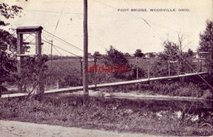 FOOT BRIDGE WOODVILLE, OH 1913