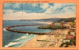 California Long Beach Rainbow Pier and Auditorium 1953