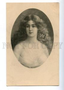 149337 Portrait BELLE Long Hair ASTI vintage Vienne Munk #352
