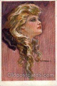 Artist De Godela 1921 light crease right edge light corner wear, postal used ...