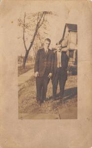 Centralia IL~Walter Schrader~Rowan Indiana Tom Lukau?~College Boys~1912 RPPC