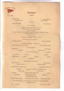 SS Coamo 1937 Cruise Puerto Rico Luncheon Menu