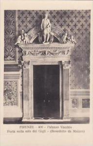 Italy Firenze Palazzo Vecchio Porta nella sala dei Gigli Real Photo