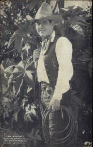 Cowboy Actor LEO MALONEY 1920s Exhibit Arcade Card
