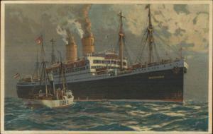 Hamburg-Amerika Hamburg Amerika Steamship Deutschland & Lightship Elbe PC