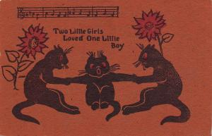 Black Cats~Music & Lyrics Illustrated~Two Little Girls Loved One Boy~Tug of War