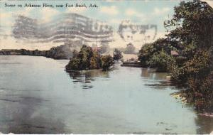 Scene on Arkansas River, near Fort Smith,  Arkansas, PU-1910
