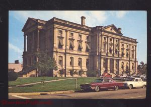 ELYRIA OHIO LORAIN COUNTY COURT HOUSE 1960's CARS VINTAGE POSTCARD