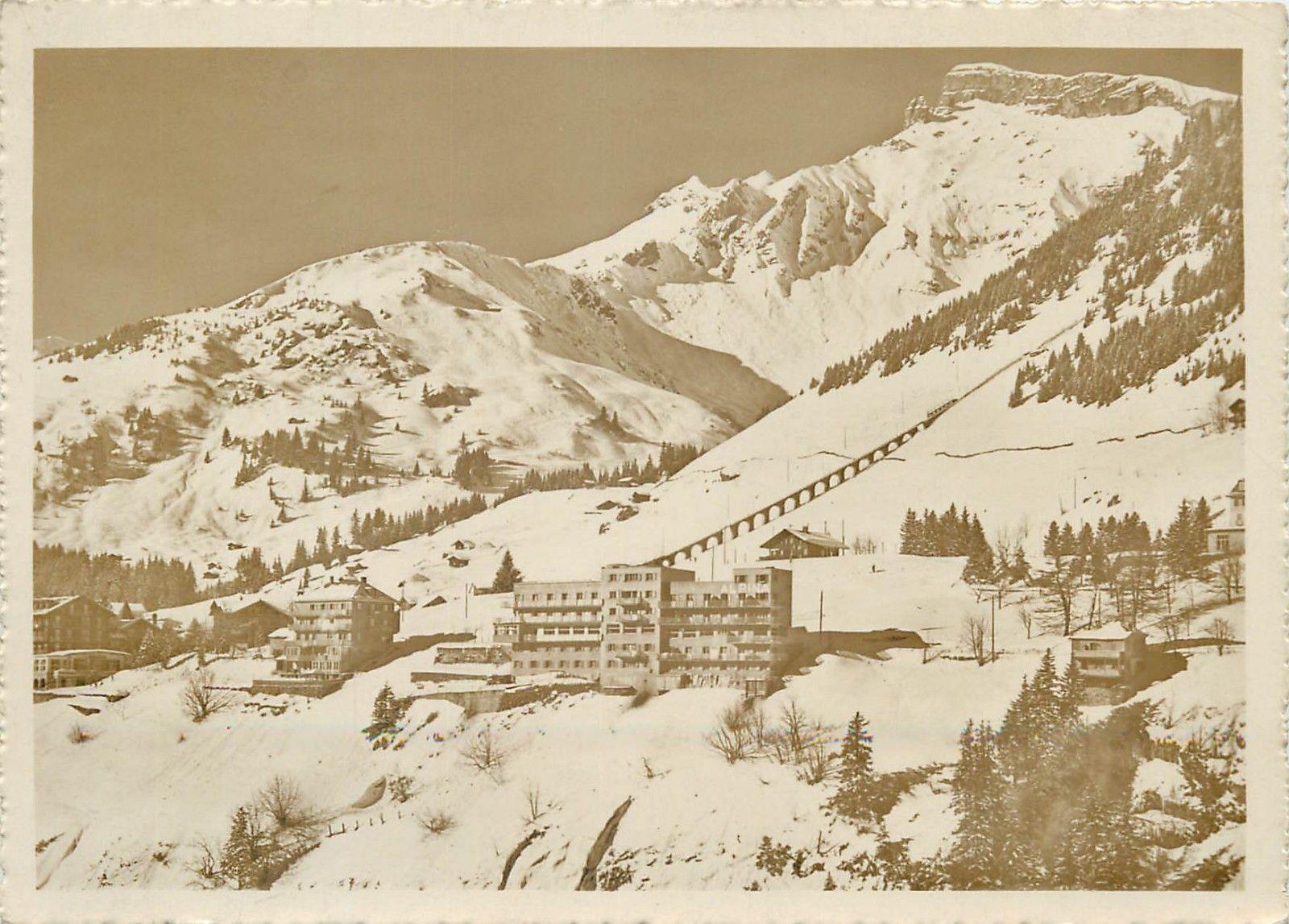 Hotel Alpina Murren Switzerland Rppc HipPostcard - Hotel alpina murren switzerland