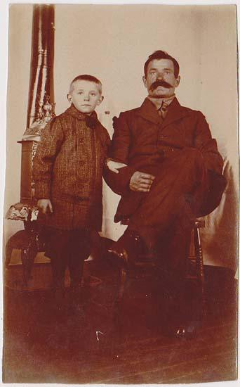 Actual Photo Postcard - Early 1900s Showing Man and Child