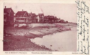 Waterfront, Sachem's Head, Guilford, Connecticut, Early Postcard, Used in 1907