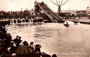 Southport, England - The Water Chute & Flying Machine - c1908