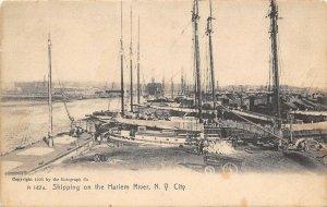Shipping on the Harlem River New York City NYC NY 1913 Rotograph postcard