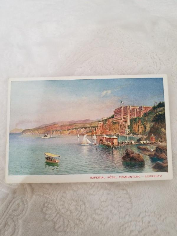 Antique Postcard from Italy, Imperial Hotel Tramontano - Sorrento