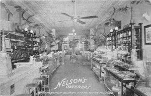 H25/ Canon City Colorado Postcard c1910 Interior Nelson's Caterers Store