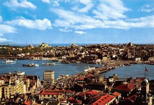 Turkey Istanbul The General view Bridge Ship Boats