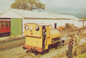 Welsh Train Sir Haydn at Pendre Works Following Rebuild Vintage Railway Postcard