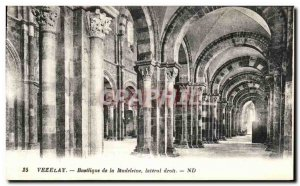 Postcard Old Vezelay Basilica Madeleine Lateral Right