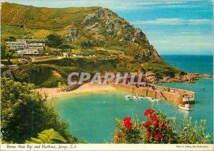 Modern Postcard Bonne Nuit Bay and Harbor Jersey CI