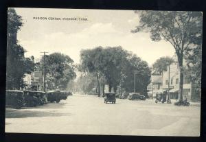 Madison, Connecticut/CT/Conn Postcard, Madison Center, Old Cars, 1933!