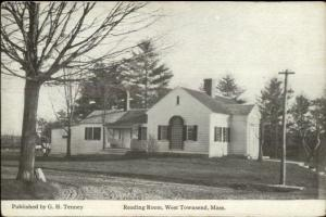 West Townsend MA Reading Room c1915 Postcard