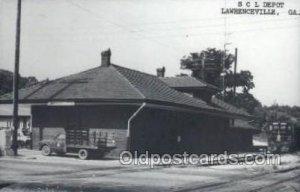 SCL Depot, Lawrenceville, GA, Georgia, USA Kodak Real Photo Paper Train Railr...