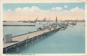 Old Dominion Pier - Dock at Newport News VA, Virginia - WB