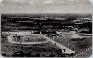 c1950s VERNON DOWNS New York Postcard Race Track Aerial View Chrome Unused