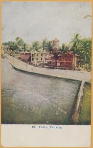 Panama Canal Zone-Colon, Panama, at the Atlantic end of the Canal-1908