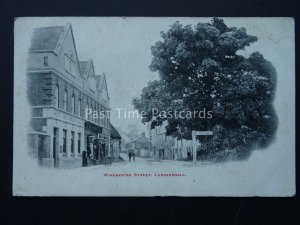 Wiltshire LUDGERSHALL Winchester Street shows WILTS & DORSET BANK c1906 Postcard