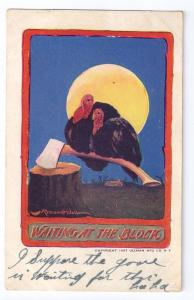 Thanksgiving Postcard Turkeys Ax Bernhardt Wall Signed
