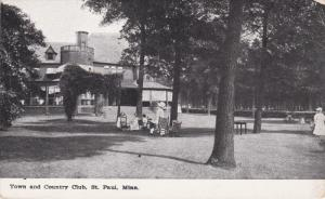 ST. PAUL, Minnesota, 1900-1910's; Town and Country Club