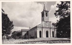 Louisiana St Martinsville St Martin Catholic Church Real Photo