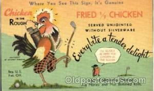 Advertising Postcard Post Card Chicken in the Rough Unused