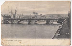 Cumbria; Stramongate Bridge, Kendal PPC, 1914 Local PMK, Faults
