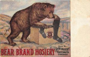 C26/ Advertising Postcard c1910 Chicago Bear Brand Hosiery Paramount Knitting 10