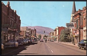 Montana One of ANACONDA'S Main Streets Highway 10A 1950s cars Store Fronts - C