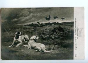 168801 HUNT English Setter Partridge by GELIBER vintage SALON