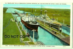 USS Maryland, Gatun Locks, Panama Canal