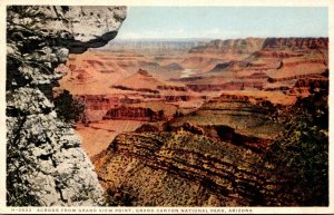 Arizona Grand Canyon Across From Gramd View Point 1927 Fred Harvey Detroit Pu...
