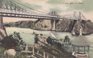 Bridge, St. John Falls Slack Water, Gazebo, New Brunswick, Canada, 00-10s