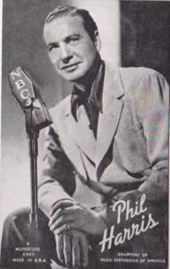 Vintage Arcade Card Phil Harris