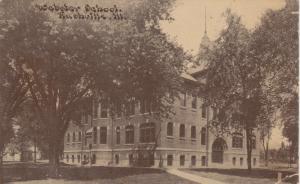 RUSHVILLE , Illinois , PU-1913 ; Webster School