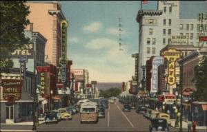 Albuquerque NM Central Ave Linen Postcard