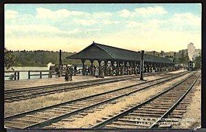 USA Boston & Maine Station the Wiers Lake Winnepesaukee NH c.1915