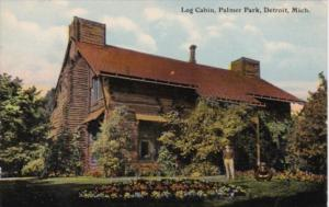 Michigan Detroit Log Cabin Palmer Park Curteich