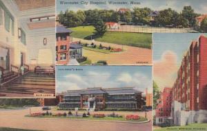 Massachusetts Worcester City Hospital Curteich